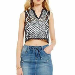 Chelsea & Violet Crochet Crop Top Size XL